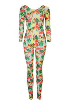 My ideal outfit, as dignified as I'd like my style to be i still end up loving the fruit covered cat suit. Fruity Catsuit by EKAT