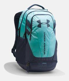 Under Armour Hustle Storm Backpack In Blue Infinity/apollo Gray Popular Backpacks, Cute Backpacks, Girl Backpacks, School Backpacks, Leather Backpacks, Leather Bags, Backpack For Teens, Backpack Online, Laptop Backpack