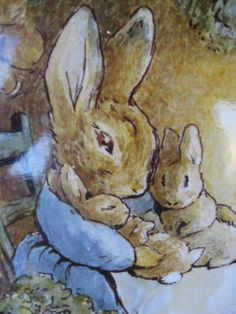 Mother Rabbit - an enlarged close-up of part of another illustration by Beatrix Potter