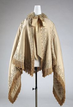 Wedding Cape (Wool and Silk), Met Museum, ca. 1870. Front view.