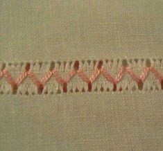 The Pleasure of embroidery: May I've never done drawn thread work but this is lovely and simple. Hardanger Embroidery, Ribbon Embroidery, Cross Stitch Embroidery, Drawn Thread, Thread Work, Embroidery Needles, Embroidery Patterns, Hem Stitch, Swedish Weaving