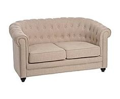 J-Line Chesterfield Sofa Met Knopen in beige Linnen 133 Jline Beige, Chesterfield Chair, Home Living, Decoration, Living Room Furniture, Love Seat, Accent Chairs, Lounge, Couch