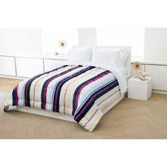 Madrid Reverse to Solid Microfiber Bedding Comforter, Multicolor