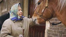 The Queen is also seen complaining about the UK weather as it is set to put off her riding plans...