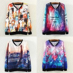 Polyester Women Sweatshirts, printed, different color and pattern for choice, Size:Free Size - yyw.com