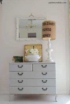 Paint Me White: French Grey Drawer Makeover