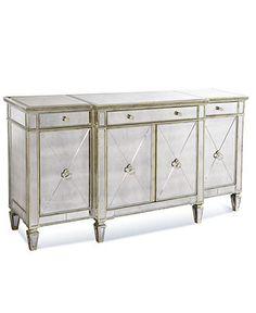 Marais Credenza, Mirrored Sideboard - Accent Furniture - furniture - Macy's