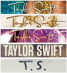 Taylor Swift album font evolution|| I hope she uses the Satisfaction font again in the future
