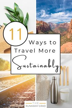 If we wish to travel freely in the future, we need to learn how to travel more sustainably. To discover 11 of the best actionable sustainable travel tips, check out this post! | #sustainability #sustainabletravel #greentravel #responsibletravel #ecotravel #traveltips #travelhacks #travelfreedom #sustainableliving | How to Travel Sustainably | Sustainable Travel Tips | Eco Travel Hacks | Responsible Travel | Green Tourism | Best Ways to Travel Sustainably Ways To Travel, Travel Hacks, Travel Tips, Sustainable Tourism, Sustainable Living, Responsible Travel, Green Life, Natural Living, Zero Waste