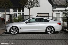 First Looks at 4 Series Coupe in Mineral White