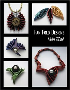 Fan Fold Designs - Helen Breil Designs - new eBook is now available.  52 pages. 150 photos. $15 #Polymer #Clay #Tutorials