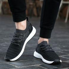Pria Ringan Sneakers Dilengkapi Ventilasi Mesh Sepatu Kasual