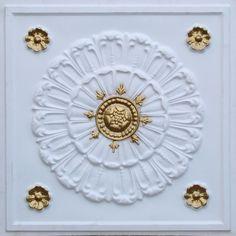 DIY Decorative PVC Ceiling Tiles #226 Antique Gold
