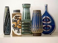 Selection of Danish midcentury pottery by moph