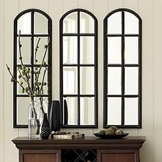 Arched Mirror trio - this would be great for the front entry