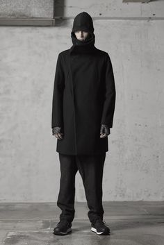 The Viridi-anne Coating Wool Melton High Neck Coat 02