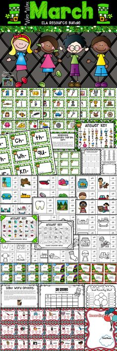 This bundle of March phonics activities is perfect for your spring literacy centers, Daily 5 Work on Words activities, RTI lessons, fast finisher activities, and more! Take a look at these engaging ELA Word Work activities and think GREEN this March as you SAVE BIG MONEY on this phonics bundle!