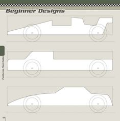 Beginner Designs Patterns - Pinewood Derby Designs & Patterns