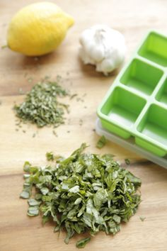How to make easy fresh herb starters to stock in the freezer. So handy!