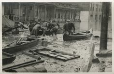 Unidentified location, 1937 flood, from the collection of Joseph C Weber, Sr.