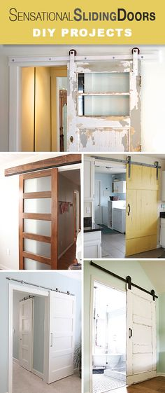 Update with DIY sliding doors! Build your own sldiing barn door, DIY sliding door with glass, and even DIY the sliding door hardware with these tutorials! Home Improvement Projects, Home Projects, Diy Sliding Door, Diy Door, Sweet Home, The Doors, Entry Doors, Patio Doors, Ideas Hogar