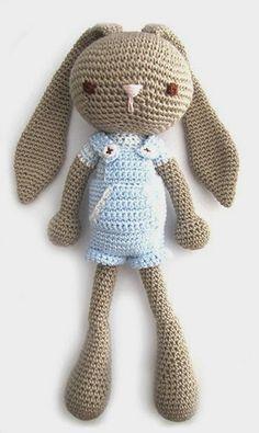 Aprendiz de Crocheteiras: Amigurumi   Coelhinho de Crochê
