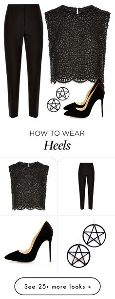 """""""New # 3.56"""" by cami-li on Polyvore featuring Jaeger, Costarellos and Marina Fini"""