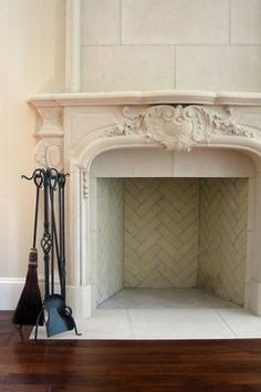 Limestone Fireplace Surround In A Beach Home … | Pinteres…