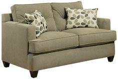 Furniture of America Parke Microfiber Fabric Loveseat, 61-Inch, Sand