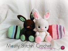 Easter Buddy-Bunnies are ready to hop onto your hook! They fit perfect in their cozy little eggs and are just the right size for Easter baskets too! They are fun to make, and look great in any color! Have fun, be creative, and get ready to crochet!
