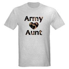 Army Aunt Shirt #cafepress #armyaunt