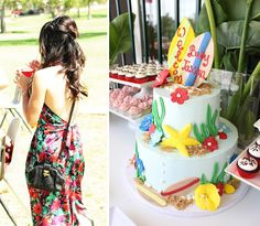 From certified interior designer to expert event planner to bonafide baby shower specialist …Oman, the life and times of the consumma. Baby Shower Cakes, Baby Shower Themes, Baby Boy Shower, Beach Cake Smash, Luau Baby Showers, Luau Theme Party, Spring Cake, Baby Sprinkle, Summer Parties