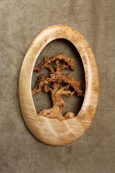 Oak Tree Wood Carving Ooak Fathers Day Gift by TreeWizWoodCarvings, $250.00