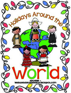 Holidays Around the World Unit {literacy and social studies} scrapbook pages for each country!
