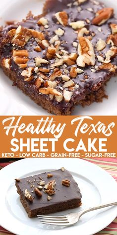 classic sheet cake goes keto and grain-free. And yet stays as true to the original as possible. You're going to love this delicious keto chocolate cake recipe. It feeds a crowd so it's perfect for all your get togethers! Sugar Free Desserts, Low Carb Desserts, Healthy Desserts, Low Carb Recipes, Healthy Zucchini Recipes, Whole Food Desserts, Trim Healthy Recipes, Easy Pork Chop Recipes, Healthy Cake