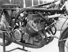 Honda used the engine as a stressed member for the chassis of the Motorcycle Engine, Cafe Racer Motorcycle, Racing Motorcycles, Mv Agusta, Cargo Bike, Vintage Racing, Ducati, Engineering, Bikers