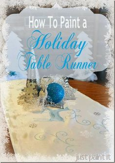 Painted Holiday Runner- step by step tutorial with template even!