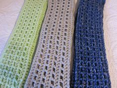 Crochet Scarves in Various Colors by Kitkateden on Etsy, $18.00