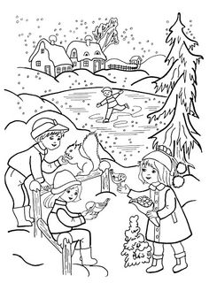 Coloring Pages Kids Snow Fun Free Printable Winter Colouring In Picasa Xmas Art Drawings