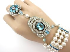 Great Gatsby Inspired Hand Jewelry Bracelet-Absolutely Beautiful!