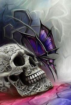 Gothic butterfly   Love Skull tattoos   Pinterest