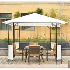 Outsunny Modern 10 Ft. W x 10 Ft. D Metal Portable Gazebo