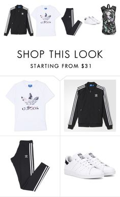 """""""Day 5 of college."""" by katelyn-style ❤ liked on Polyvore featuring adidas Originals and adidas"""