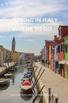 Discover the best destination to visit in spring in Italy Travel Vacation List Holiday Tour Trip Italy Travel Tips, Europe Travel Guide, Travel Guides, Travelling Europe, Fun Travel, Travel Info, Travel Goals, Travel Advice, Time Travel