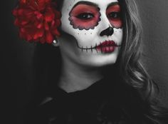 Day of The Dead Makeup, Dia De Los Muertos, Catrina, Sugar Skull