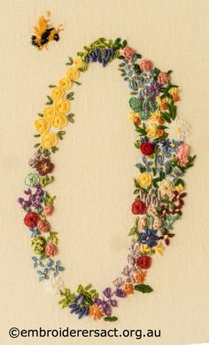 Floral embroidered 90