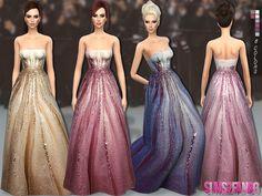 .:142 - Oscar dress:. Found in TSR Category 'Sims 4 Female Formal'