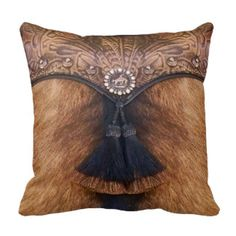 Rest your head on one of Zazzle's Native American Indian decorative & custom throw pillows. Add comfort and transform any couch, bed or chair into the perfect space! Cowhide Decor, Cowhide Pillows, Rustic Pillows, Leather Tooling, Tooled Leather, Indian Pillows, Ranch Decor, Leather Pillow, Leather Rugs