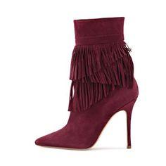 Boot Shops, Fringes, Bordeaux, Spring Summer, Beige, Heels, Black, Fashion, Fashion Styles