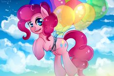 Pinkie Pie in the sky~ by Twigileia.deviantart.com on @deviantART